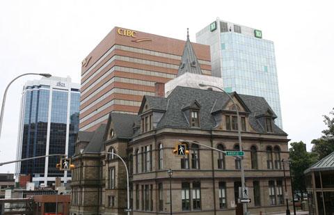 buildings of banks in Halifax