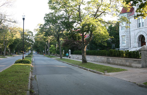 Street with no poles in Halifax