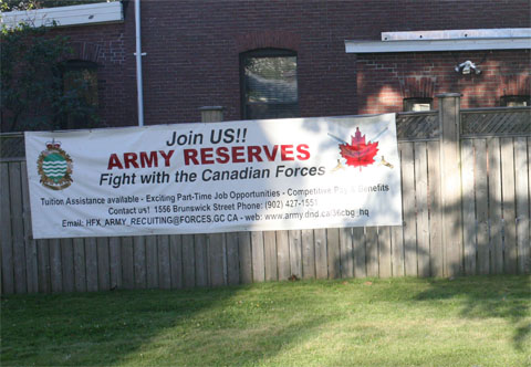 ad to fight with Canadian forces in Halifax