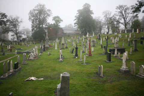 Graveyard near Queen Street in Halifax