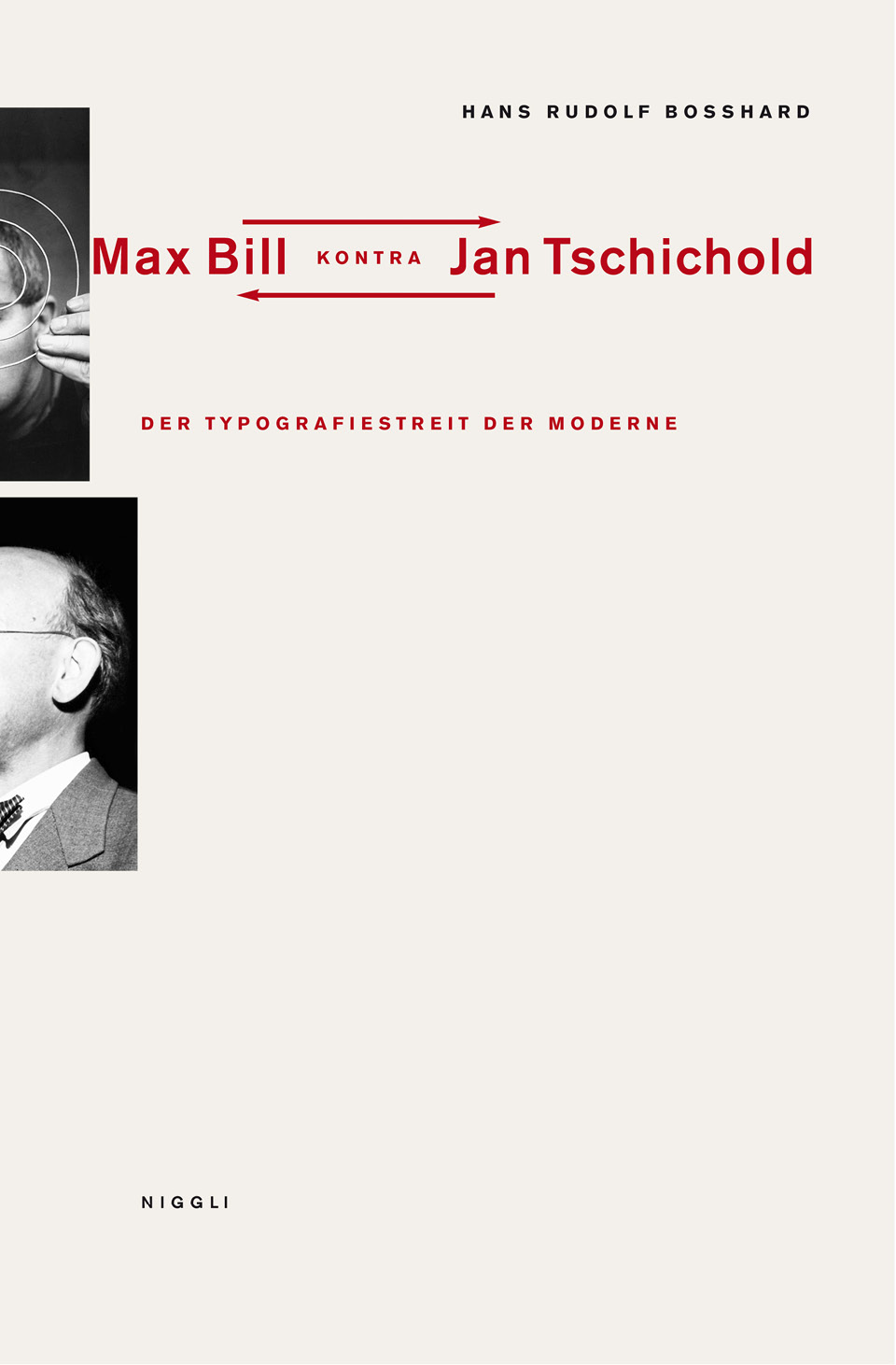 white book cover containing red text and cropped photographs