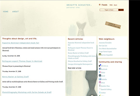 Screenshot of Web Design brigitteschuster.com 2007 - Personal
