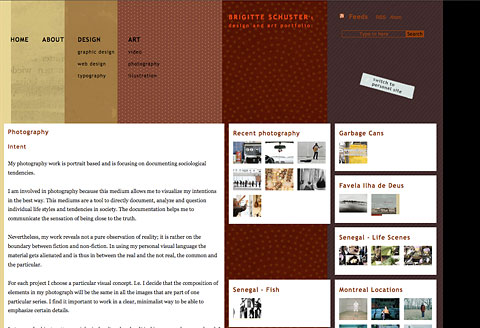Screenshot of Web Design brigitteschuster.com 2007 - Creative Research