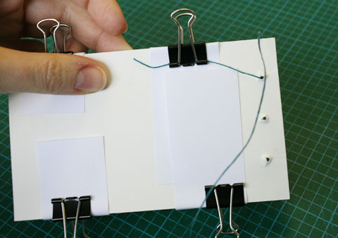 White book using Japanese binding