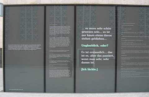 Window and text excerpts