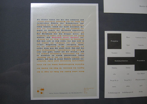 Text poster by Ott + Stein