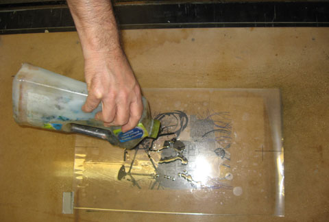Cleaning of photolithography plate