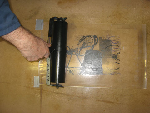 Inking of photolithography plate