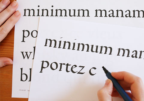 broad nib writing in order to imitate old-style letters