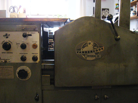 Vandercook Universal 3 Press