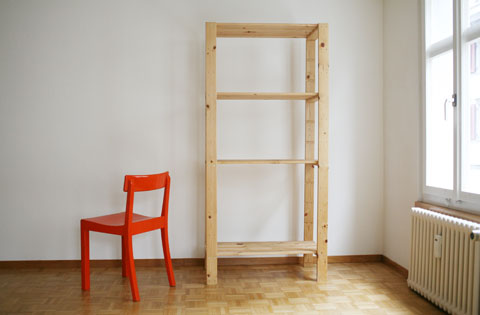 shelf and chair