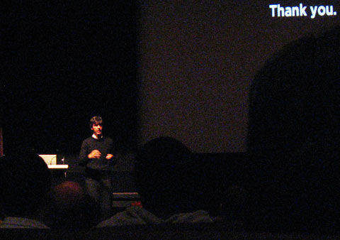 Stefan Sagmeister's conference talk in Montreal at Cinema Ex-centris