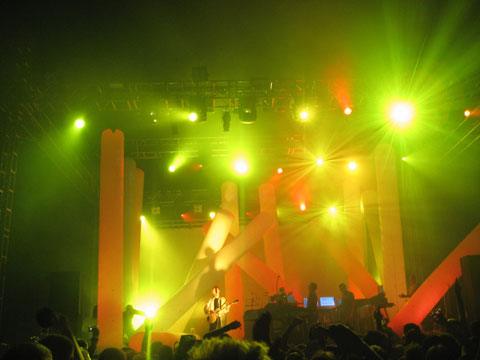 Stage with performance of the group underworld