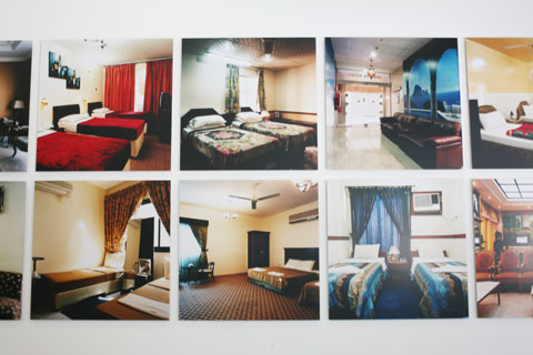 Photographs of hotel rooms