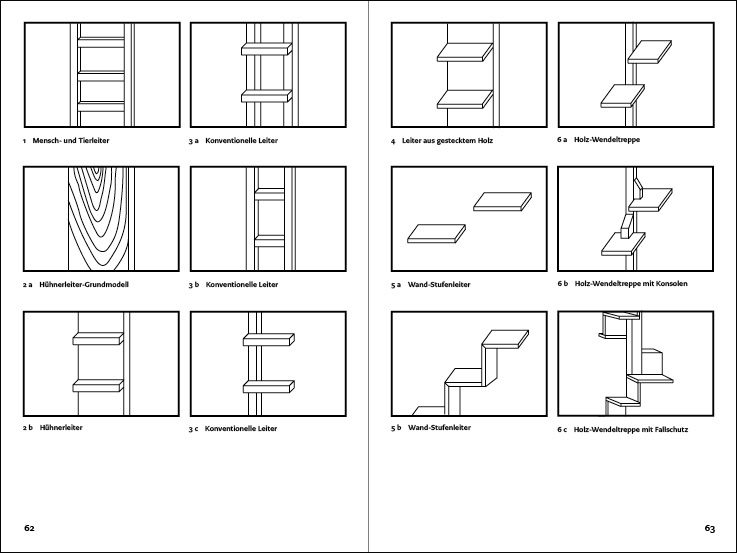 Layout example of cat ladder book