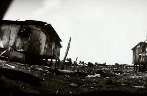 barracks in slum area, from the pinhole photography project 'Favela - Ilha de Deus Pinhole'