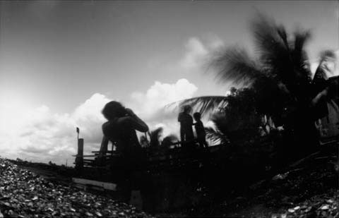 barracks, from the pinhole photography project 'Favela - Ilha de Deus Pinhole'