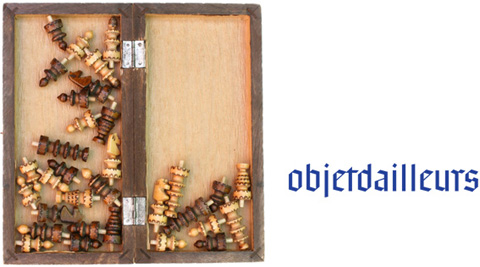 Screenshoot of the objetdailleurs project containing a chess board and the project logo next to it