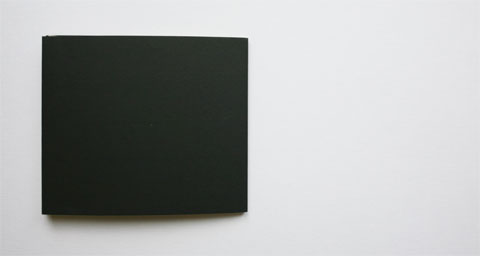 Verso of book cover in black
