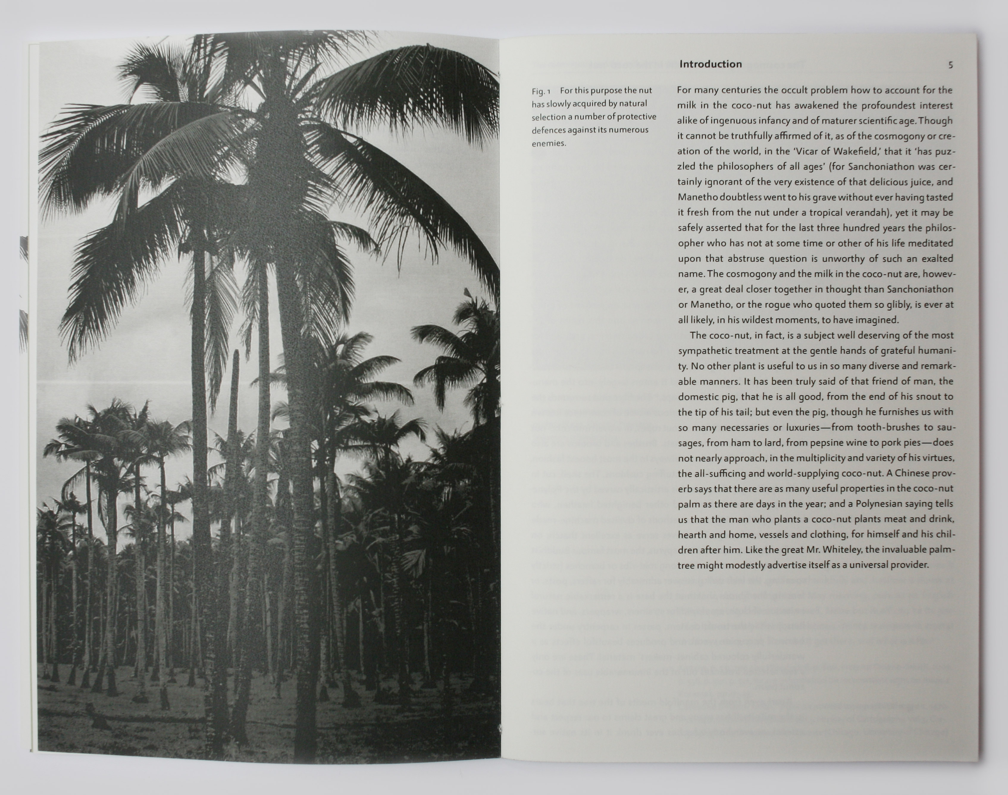 Spread in book with text and full-page photograph