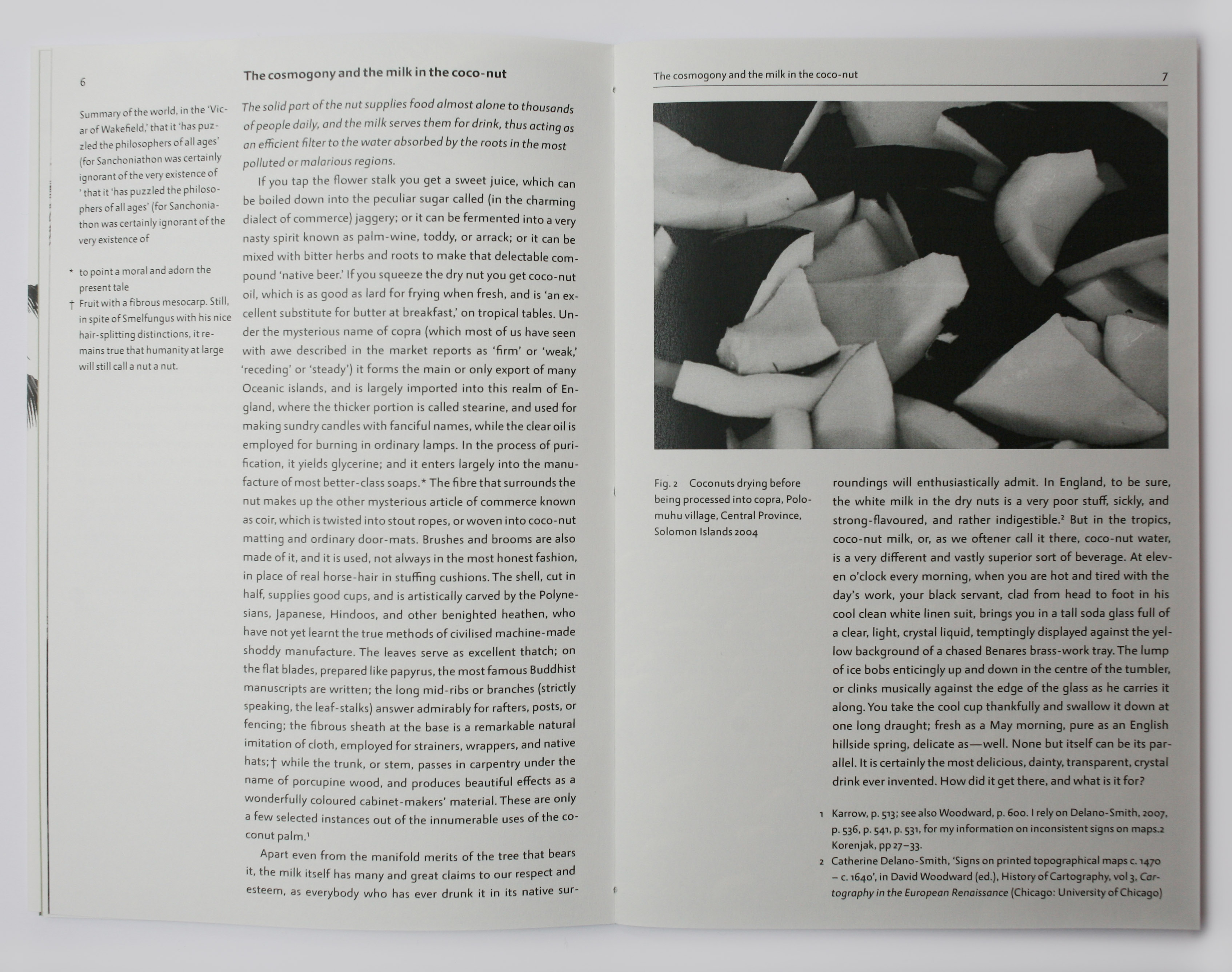 Spread in book with text and photograph