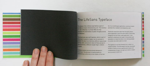 Cover of typeface booklet