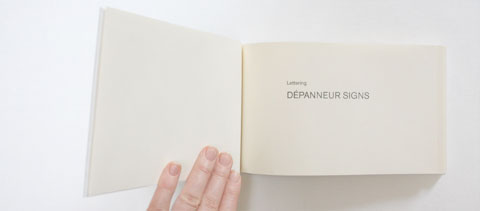 Title page of Lettering depanneur signs book