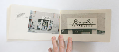 Script lettering page in Lettering depanneur signs book