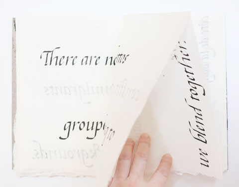 Page containing the word 'together' of Montreal italic calligraphy book