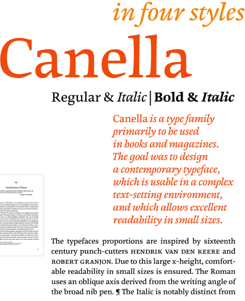 Canella Type family introduction
