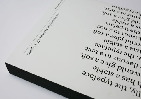 book featuring the Canella typeface