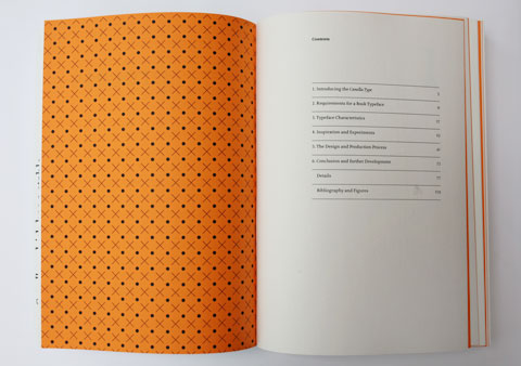 Canella process book contents page
