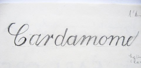 Calligraphy of the word minimum