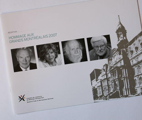 Brochure Great Montrealers – Cover