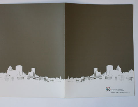Board of Trade of Metropolitan Montreal – folder recto in taupe